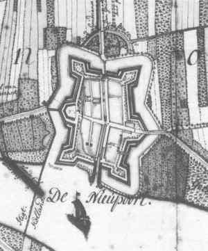 Kaart Nieuwpoort